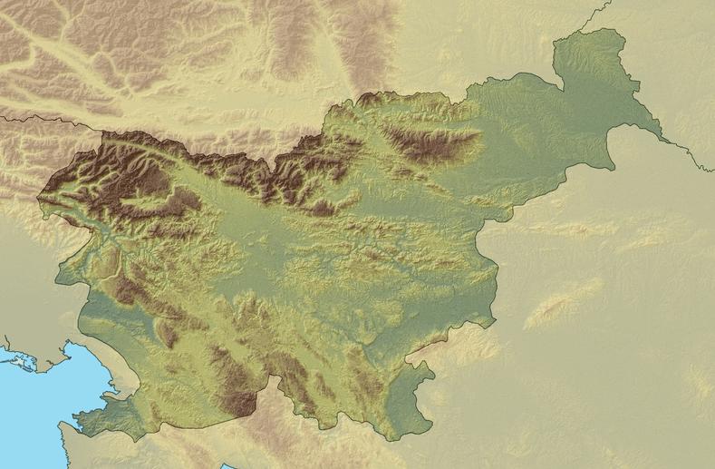 Relief en slovénie