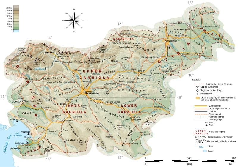 La slovénie en détail